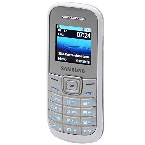 Samsung E1200i Handy (3,9 cm (1,5 Zoll) TFT-Display, SOS-Nachrichten und Organizer-Funktion) - Weiß