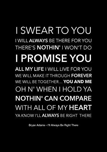 Bryan Adams Poster mit Songtext