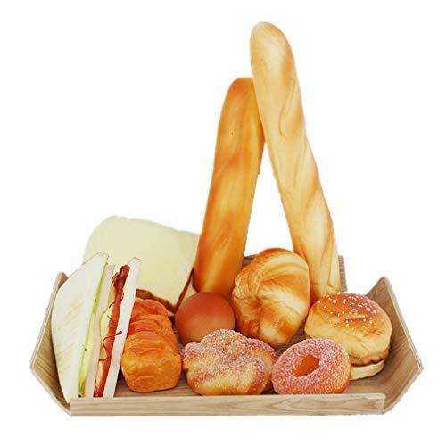 Mynse Kit de 11 piezas de pan artificial simulación sándwich baguette
