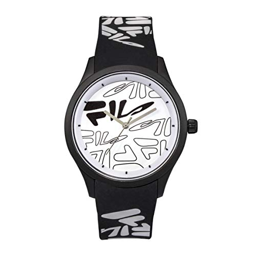OROLOGIO FILA Analog Watch - Watches for Women - Womens Watches - Cool Watches for Men - Mens Wrist Watch - Running Watch - Unisex Watch - Fila Watches for Men - Black & White Fila Watch