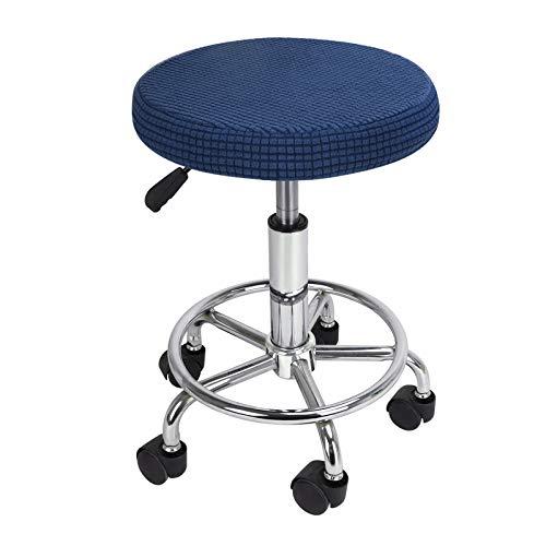 Funda para silla redonda, funda de taburete, cojín para proteger silla, funda de 4 temporadas, alfombra gruesa para comedor, oficina, bar, peluquería