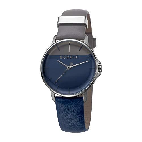 Esprit Colorblock-Uhr mit Leder-Armband