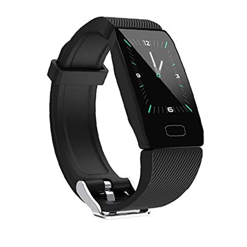 SmartWatch Smart Watch Smart Band Pulsera Fitness Watch Tracker Ritmo cardíaco Caeolorie Counter Test P1 para Sports Health Black