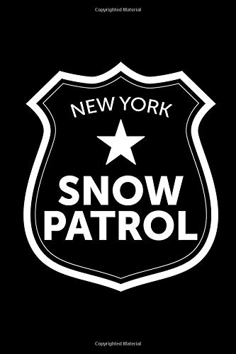 New York Snow Patrol: This is a blank, lined journal that makes a perfect winter gift for men or women. It's 6x9 with 120 pages, a convenient size to write things in.