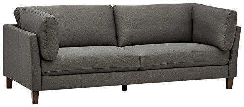 Marca Amazon -Rivet Midtown - Sofá con cojines extraíbles, 233 cm de ancho (gris antracita)