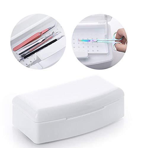 BovoYa Desinfektion Box, Professionelle Nagel Sterilisator Box Kunststoff Nagelkunstwerkzeuge Box für Pinzetten Nagelzangen Salonschäler
