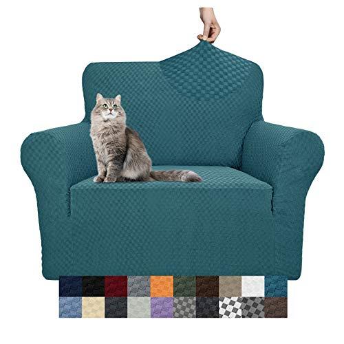 Yemyhom Funda de sofá con diseño jacquard, alta elasticidad, para 3 cojines de sofá, perro, gato, antideslizante, protector de muebles