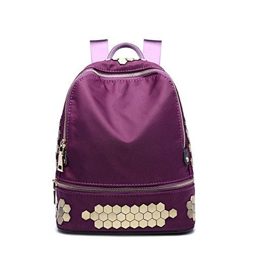 Léger Oxford rivets sac à dos mode Casual havresac randonnée shopping datant petit Pack pour les labbes , style 3
