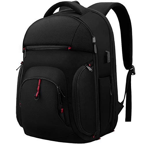 Laptop Backpack, 15.6 Inch Travel Business Laptop Backpack with USB Charging Port, TSA Water Resistant College School Computer Backpack Daypack Laptop Bag for Men/Women-Black