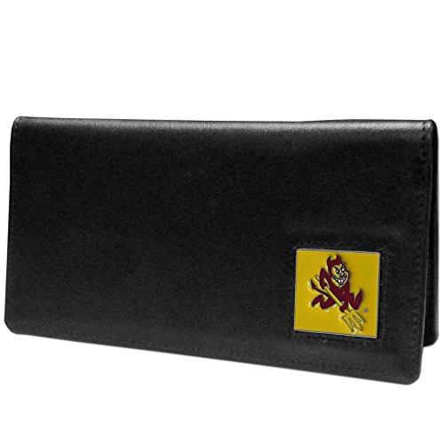 NCAA Siskiyou Sports Fan Shop Arizona State Sun Devils Leather Checkbook Cover One Size Black