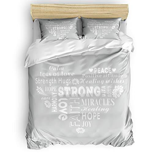 Find Bargain Duvet Cover Set Printed 4 Pcs Bedding Set Twin Size Include Duvet Cover, Bed Sheet, Pil...