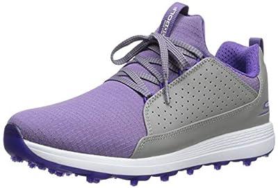 Skechers Women's Max Mojo Spikeless Golf Shoe, Gray/Purple, 11 M US