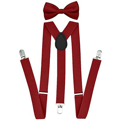 RANTA 2020 Neujahr Hosenträger mit den 6 starken Clips und Fliege KIT mehrfarbig elastisch Y-formoig Länge für Damen und Herren Playshoes in verschiedenen Designs