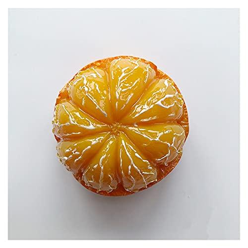 YSJJWDV Imanes para Nevera Imanes de Nevera Pintados a Mano, imitación Naranja 3D, Recuerdos de Turismo, Etiquetas engomadas magnéticas para refrigerador, Regalo, White
