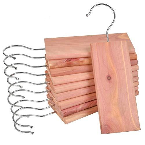 YOTINO 10 Piezas de Bloques de Madera de Cedro Perchas repelentes de polillas Naturales Protección de polillas Naturales para armarios Producto Natural Anillos de Madera de Cedro