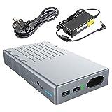 Powerbank 24000mAh 220V / 230V AC 100W - et 2 Sorties USB (2.1A et 1A) - OrimeCharger Batterie Externe pour MacBook Air Pro, Ordinateur portable,Laptop, Smartphone, Tablette et Appareils ménagers