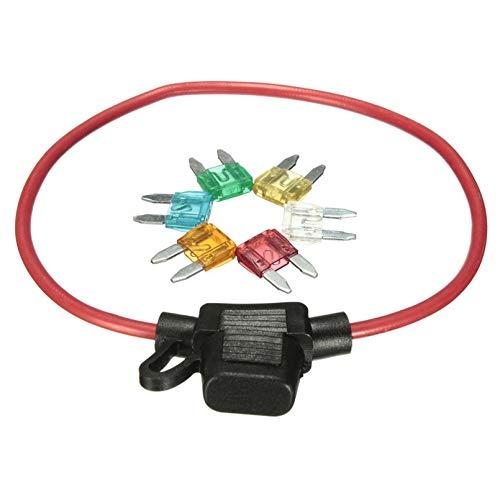 Switch Electronics 5 x 50 A Confezione da 5 fusibili a Basso Profilo JCASE per Auto Colore: Rosso