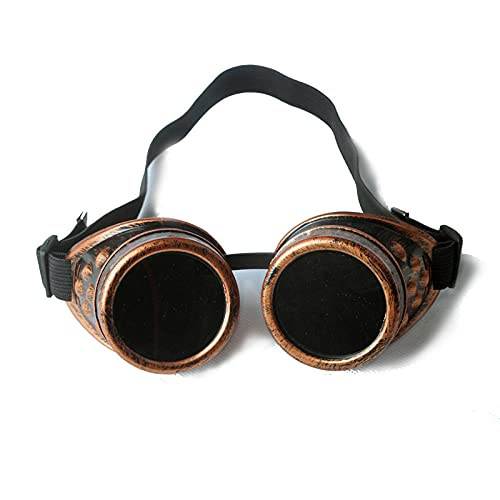 WQZYY&ASDCD Gafas de Sol Steampunk Unisex Cool Man Lady Gafas De Soldadura Cosplay Retro Glasses Glasses-002-R_
