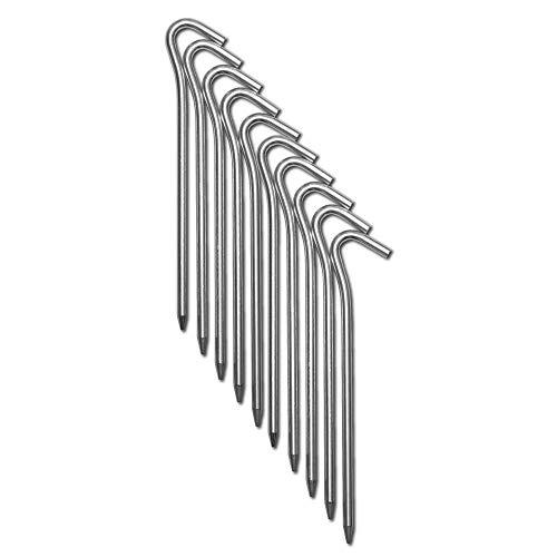 CampAir Heringe 10er Set L-Profil Zeltheringe, Bodenanker aus Ultra leichtem (16g) und extra starkem Aluminium (7071-Alu), 6mm Dicke