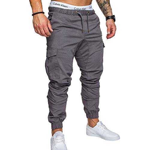 Los hombres pantalones de Hip Hop harem pantalones masculinos pantalones para hombre sólido multi-bolsillo diez colores pantalones