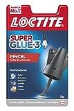 Loctite Super Glue-3 Pincel, pegamento transparente con pincel aplicador, adh...