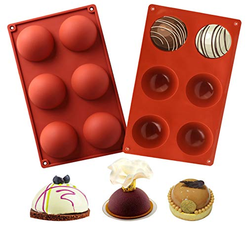 chocolate bombs mold (2 Packs) Silicone Molds Baking Mold for Making Chocolate, Cake, Jelly, Dome Mousse