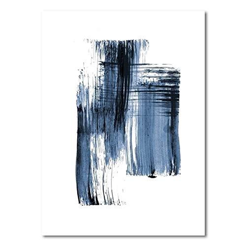 Cartel minimalista moderno Azul Graffiti Casual Simple Imagen de lienzo para sala de estar Dormitorio Estudio Decoración 30x40 cm