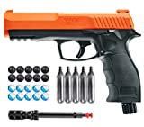 Wearable4U T4E by P2P HDP .50 Caliber Pepper Ball Air Pistol with Included 5X 12g CO2 Tanks and Free 10x Powder Balls and 10x Rubber Balls Bundle