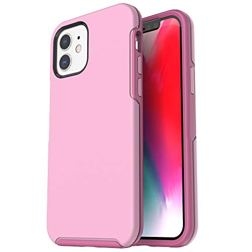 Krichit Ongoing Series Compatible with iPhone 12 Mini case (2020), Anti-Drop and Shock-Absorbing case Compatible with 5.4-inch iPhone 12 Mini case (Pink)