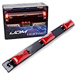 iJDMTOY OEM-Spec Red Lens 9-LED Rear Truck Bed Mounted Center Tailgate Running Light Bar, Compatible with 1999-2010 Ford F-250 F-350 F-450 DRW, Also Fit Other Truck/Pickup
