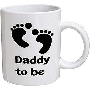 Taza divertida Papá para ser papá Padre Bebé recién nacido 11 oz Tazas de café Divertido inspirador y sarcasmo por una taza para mantener TM