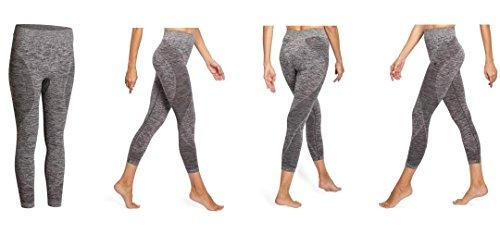 Domyos Exklusive Yoga+ 500 Damen 7/8-Leggings Sporthose Hose, Grau, Gr. XS-2XL (S /96-102 cm)