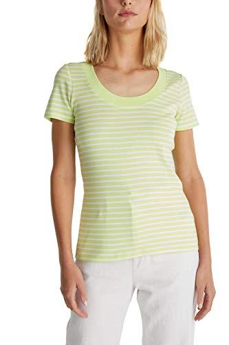 edc by Esprit Damen 040CC1K318 T-Shirt, 762/LIME Yellow 3, M