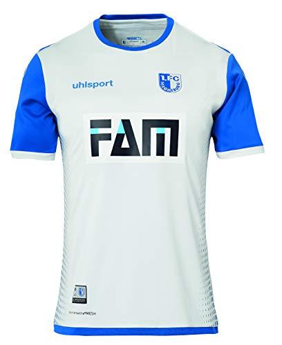 1. FC Magdeburg Uhlsport Away - Camiseta de fútbol (temporada 18/19), blanco/azul, xxx-large