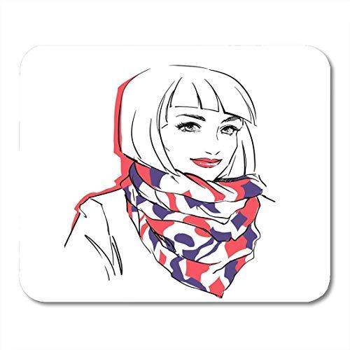 Mauspad frau im winter sie trägt warmes parka mousepad für notebooks, Desktop-computer mausmatten, Büromaterial