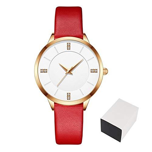 JCCOZ-URG Cuarzo del Reloj de Lujo Nuevo Reloj de Las Mujeres Marca de fábrica Superior de Mujeres Que Las señoras a Prueba de Agua Ultra-Delgado de Piel Casual Reloj Relojes URG