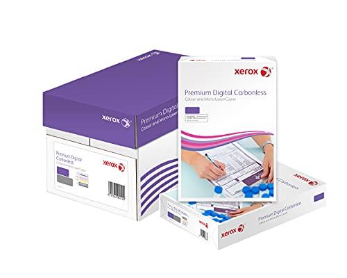 Xerox 003R99107 Premium Digital - Papel autocopiante, 2 copias por hoja, clasificadas por caja, 5 paquetes, color blanco y amarillo