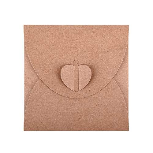 ewtshop® 50 x CD-Hüllen Kuverts, Umschläge, Geschenkverpackung, Foto-Aufbewahrung aus Kraftpapier auch für Scrapbooking