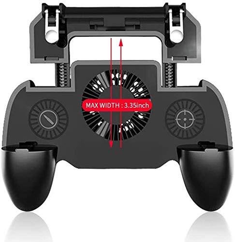 Miwaimao Controller Gamepad, Joystick Shooter Joypad Game Pad Kühler Lüfter mit 2000/4000 mAh Power Bank für Handy Android iOS