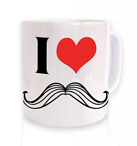 Ich Herz Schnurrbart Tasse White Mug