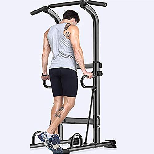 YQM Einstellbare Power Tower Multifunktions Klimmzugstation Für Krafttraining Dip Stand Workout Fitness Bar Push Up Ausrüstung Für Das Heim Fitnessstudio Übung 2