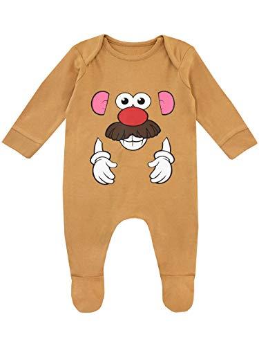 Disney Pijama Entera para Niños Bebés Toy Story Mr Potato Head Marrón...