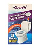 GuardH Automatic Toilet Bowl Cleaner Tablets - Each Tablet Helps Prevent Hard Water Stains, Toilet Rings, Limescale for around 2000 flushes - Toilet Deep Clean & Deodorizer tablet - 8 Tablets - 12 months supply