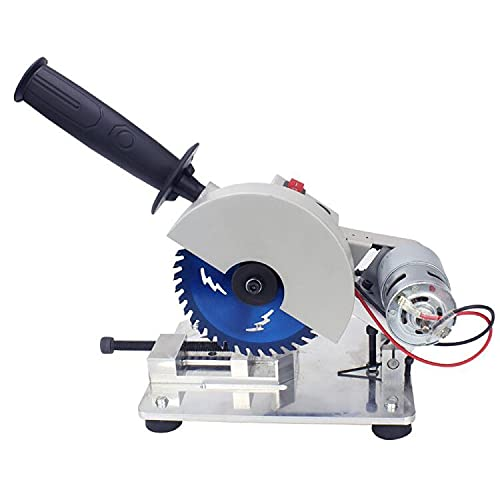 DNYSYSJ Micro Cutting Machine, Portable Table Saw Powerful Miter Saw for Cutting Soft Metal Wood Plastic Acrylic Bamboo Material, Adjustable Angle 9000r/min Low Noise