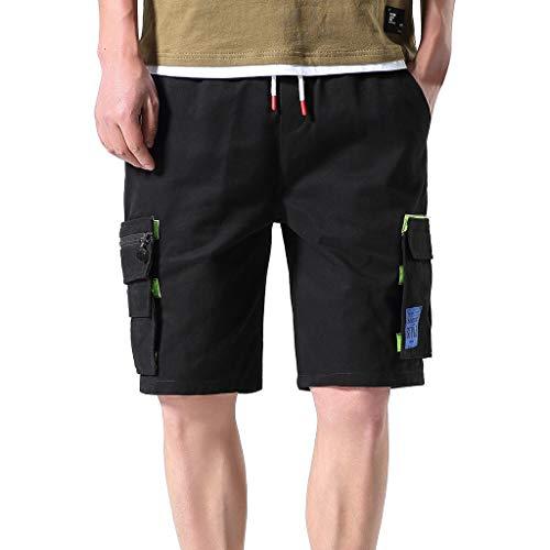 Herren Freizeithose Outdoors Sommershorts Taschenoverall Freien Taschen Hose Arbeitshose Strand Baggy Shorts Hose Amoyl