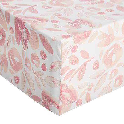AmazonBasics - Sábana ajustable de microfibra premium (90 x 200 cm), rosa acuarela
