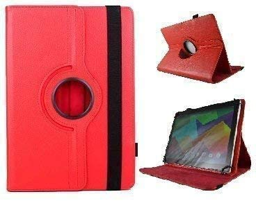 theoutlettablet Funda Giratoria 360º para Tablet Alcatel 1T Smart 10' - ROJA