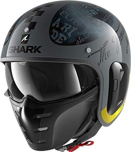 Shark Motorradhelm S-DRAK 2 TRIPP IN AAY, Anthracite/Gelb, M