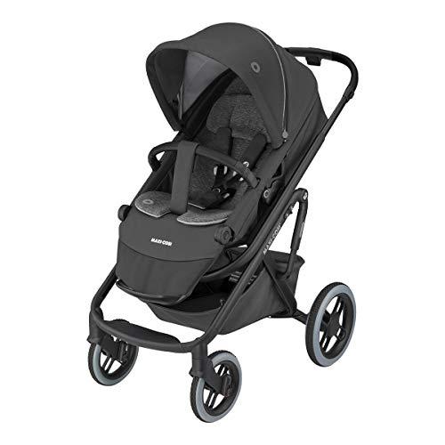 Maxi-Cosi Lila XP Kinderwagen, Komfortabler XL Outdoor-Kinderwagen mit Extra großem Sitz und Liegeposition, Offroad Reifen und starker Federung, nutzbar ab Geburt bis ca. 4 Jahre essential black