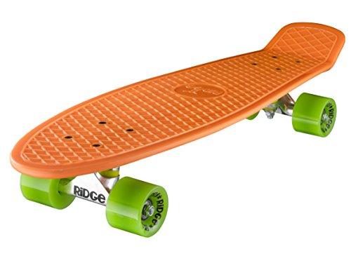 Ridge Skateboard Big Brother Nickel 69 cm Mini Cruiser, orange/grün